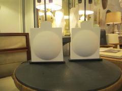 Pair of Modern Sculptural Plaster Lamps - 344474
