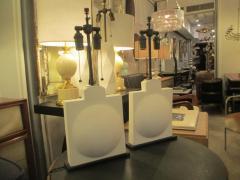 Pair of Modern Sculptural Plaster Lamps - 344475