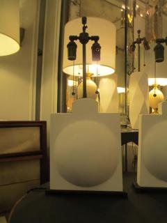 Pair of Modern Sculptural Plaster Lamps - 344476