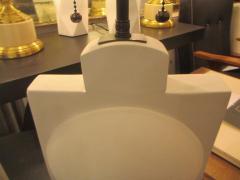 Pair of Modern Sculptural Plaster Lamps - 344477