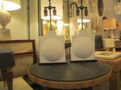 Pair of Modern Sculptural Plaster Lamps - 344478