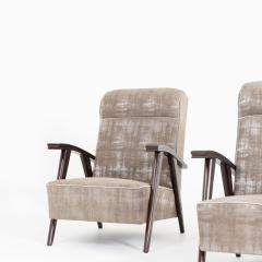 Pair of Modernist Armchairs Attributed to Jacques Adne - 1944740
