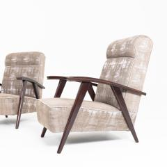 Pair of Modernist Armchairs Attributed to Jacques Adne - 1944753