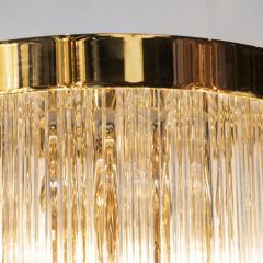 Pair of Modernist Brass Handblown Murano Glass 4 Tier Quadretti Sconces - 1579165