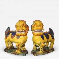 Pair of Monumental Chinese Buddhist Lionesses - 1848436