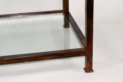 Pair of Monumental Custom Etageres in Glass and Iron - 1270097