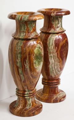 Pair of Monumental Onyx Urns - 1610016