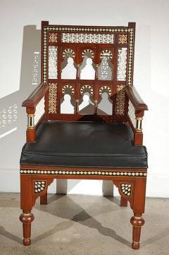 Pair of Moroccan Moorish Armchairs - 338444