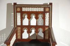 Pair of Moroccan Moorish Armchairs - 338445