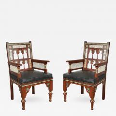 Pair of Moroccan Moorish Armchairs - 339183