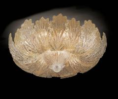 Pair of Murano Glass Leave Flush Mount or Ceiling Lights - 1995907