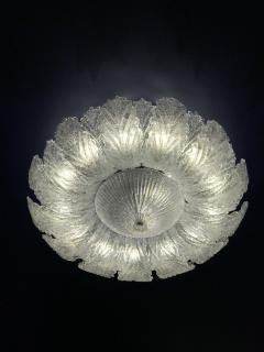 Pair of Murano Glass Leave Flush Mount or Ceiling Lights - 1995908