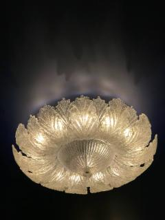 Pair of Murano Glass Leave Flush Mount or Ceiling Lights - 1995911