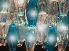 Pair of Murano Glass Poliedri Colored Chandelier in the Style of Carlo Scarpa - 1300687