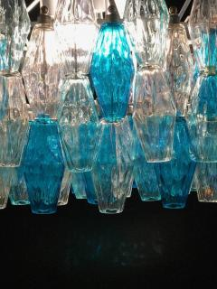 Pair of Murano Glass Poliedri Colored Chandelier in the Style of Carlo Scarpa - 1300689