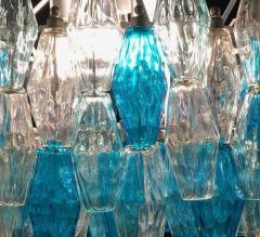 Pair of Murano Glass Poliedri Colored Chandelier in the Style of Carlo Scarpa - 1300691