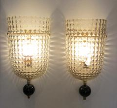 Pair of Murano Glass Wall Sconces Art Deco Style - 1360914