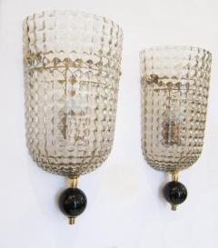 Pair of Murano Glass Wall Sconces Art Deco Style - 1360915