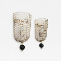 Pair of Murano Glass Wall Sconces Art Deco Style - 1362652