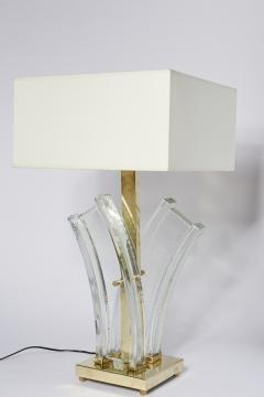Pair of Murano Glass and Brass Table Lamps - 1066270