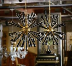 Pair of Murano Hanging Sputnik Pendant Lights - 212825