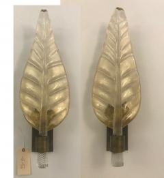 Pair of Murano Leaf Wall Sconces - 1904151