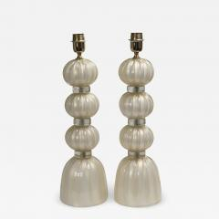 Pair of Murano Opaline Gold Lamps contemporary - 1184852