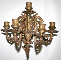 Pair of Neoclassical Revival Five candle Girandoles Astor Provenance - 1866636