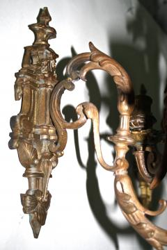 Pair of Neoclassical Revival Five candle Girandoles Astor Provenance - 1866638