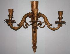 Pair of Neoclassical Revival Three candle Sconces Astor Provenance - 1867692