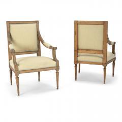 Pair of Neoclassical Swedish Armchairs - 2057683