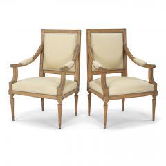 Pair of Neoclassical Swedish Armchairs - 2057684