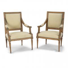 Pair of Neoclassical Swedish Armchairs - 2057685