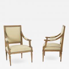 Pair of Neoclassical Swedish Armchairs - 2064971