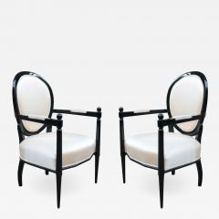 Pair of Neoclassically inspired Armchairs - 1855999