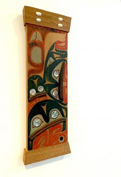 Pair of Northwest Coast Native Carved and Painted Cedar Panels - 1881307