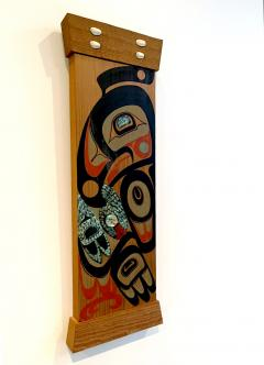 Pair of Northwest Coast Native Carved and Painted Cedar Panels - 1881308