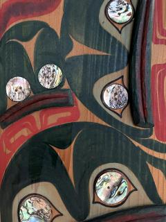 Pair of Northwest Coast Native Carved and Painted Cedar Panels - 1881311