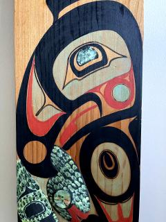 Pair of Northwest Coast Native Carved and Painted Cedar Panels - 1881313