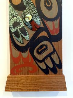 Pair of Northwest Coast Native Carved and Painted Cedar Panels - 1881314