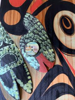 Pair of Northwest Coast Native Carved and Painted Cedar Panels - 1881315