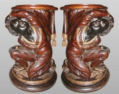 Pair of Nubian plant stands or stools XIXth century - 1211166
