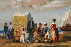 Pair of Oil Paintings The Beach - 1785441