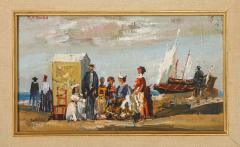 Pair of Oil Paintings The Beach - 1785442