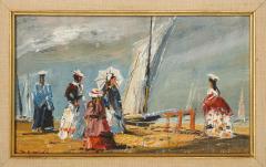 Pair of Oil Paintings The Beach - 1785445