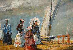 Pair of Oil Paintings The Beach - 1785449