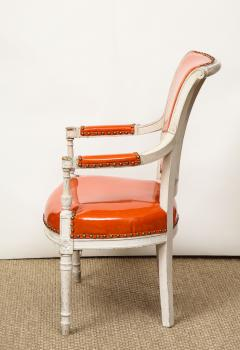 Pair of Orange Directoire Style Chairs - 1311104