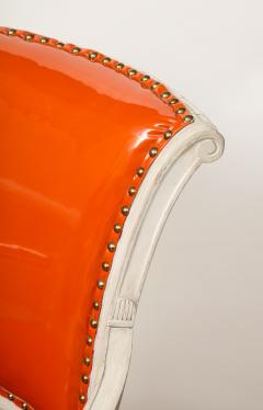 Pair of Orange Directoire Style Chairs - 1311105