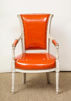 Pair of Orange Directoire Style Chairs - 1311106