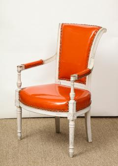Pair of Orange Directoire Style Chairs - 1311107